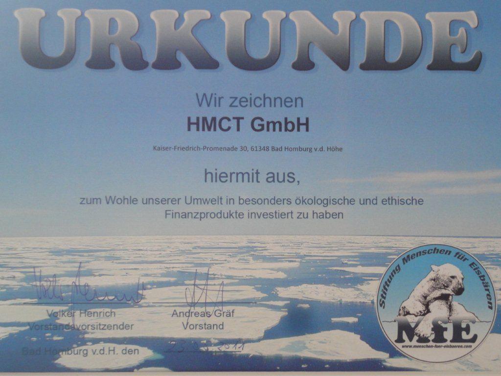 HMCT Urkunde